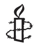Amnesty's famous motif of a  candle encircled by barbed wire