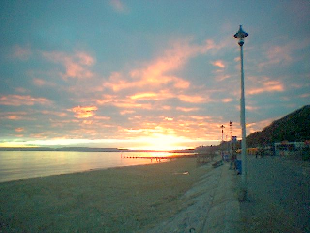 sunset in Bournemouth - this image has no link associated with it